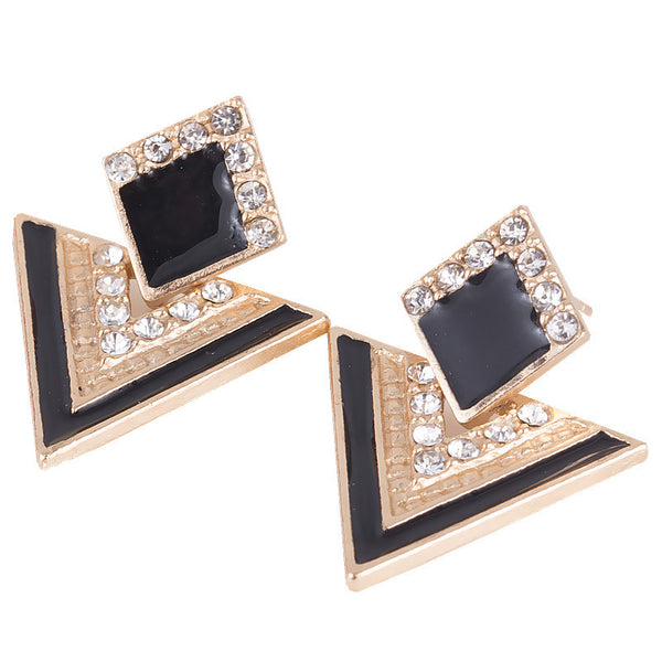 Women Earring Chromophous Summer Triangle Style For Women Vintage Brand Crystal Earrings Fashion Jewelry Earing  6 colors E0120