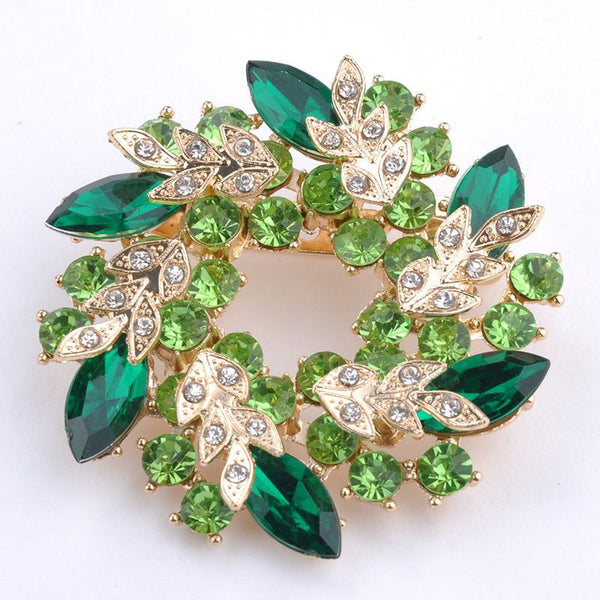 2017 TRENDING NOW!! Bling Bling Crystal Rhinestone Gold Plated Chinese Redbud Flower Brooch Pins Jewelry Women Brooches for Scarf
