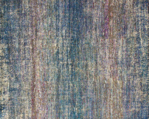 Evoke Midnight Blue Sari Silk Carpet