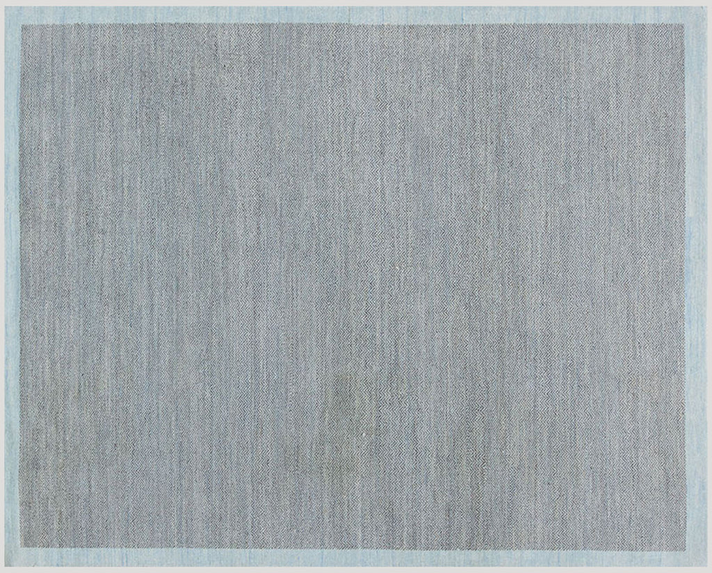 Herringbone Duo sky wool carpet