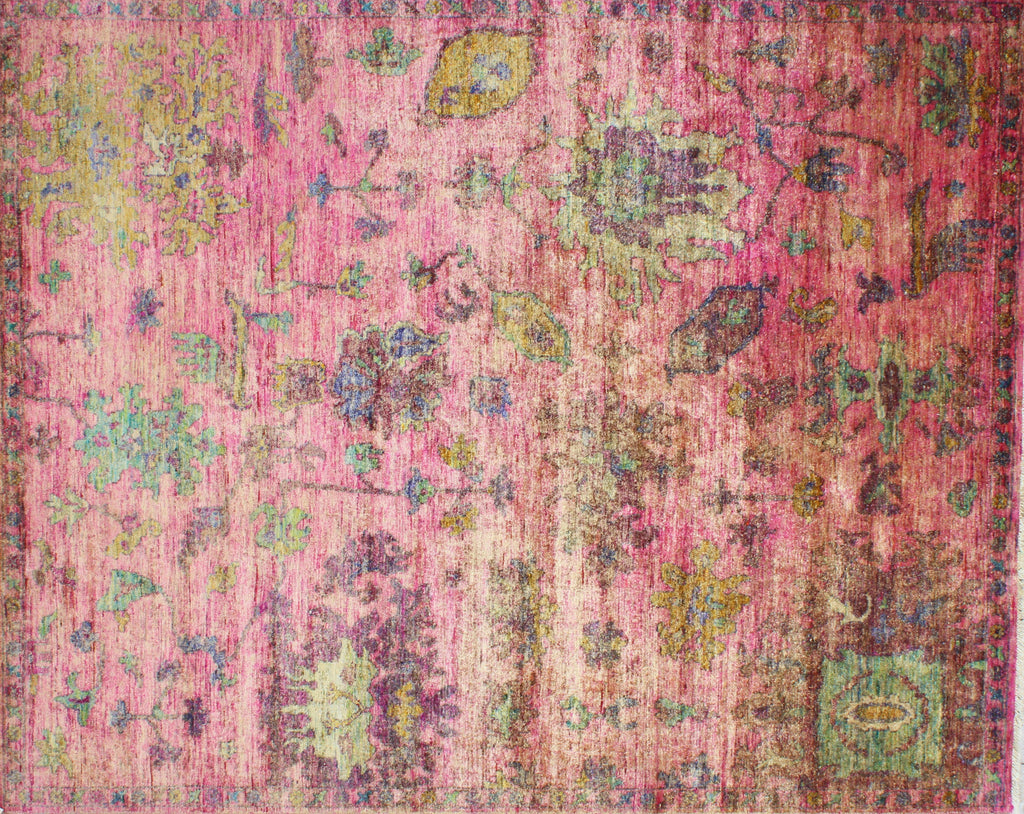 Jazz Raspberry Cocktail Sari Silk Carpet