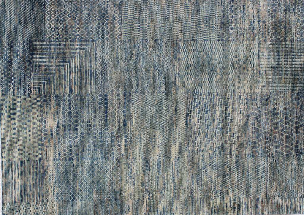 Fields Blue Hues Wool Carpet