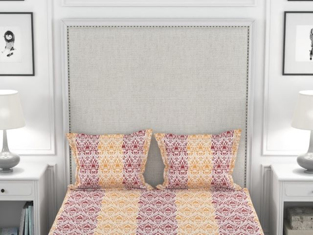 Amouve printed cotton bed sheet