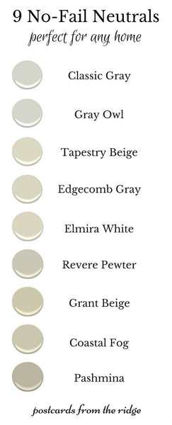neutral wall colours