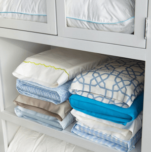 Organize your bed sheets