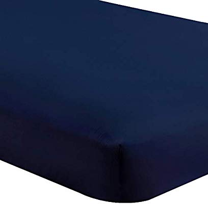 Fitted Bed Sheet Navy