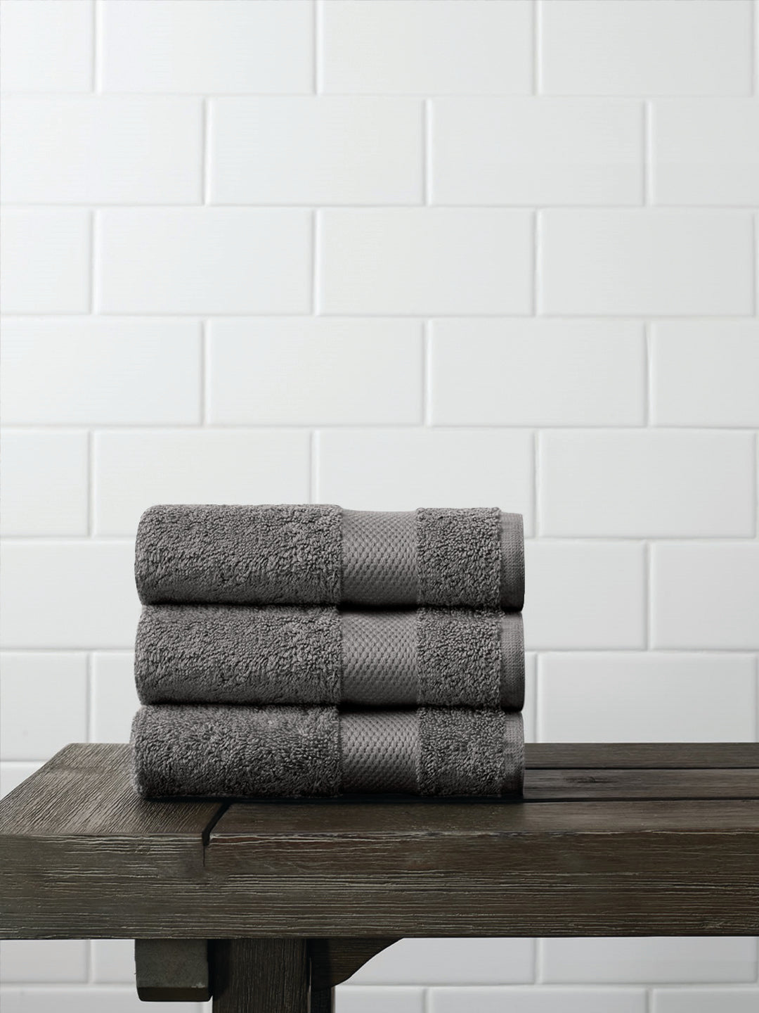 Face Towels (Set Of 3) in Organic Cotton - Gray