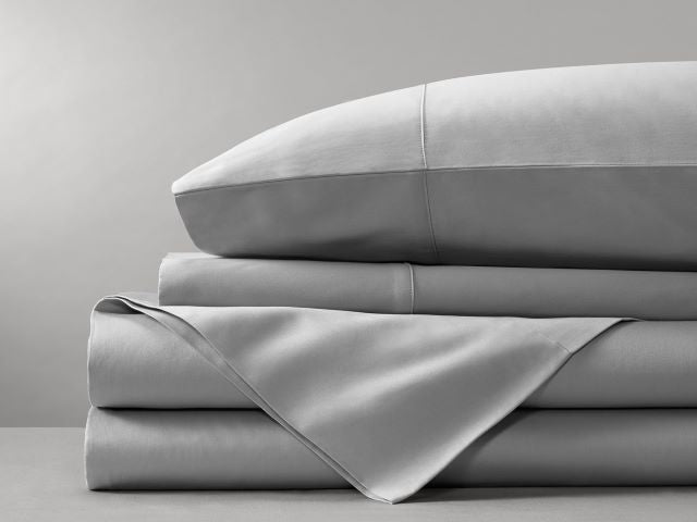 Organic Cotton Bed Sheet Set (Light Gray)