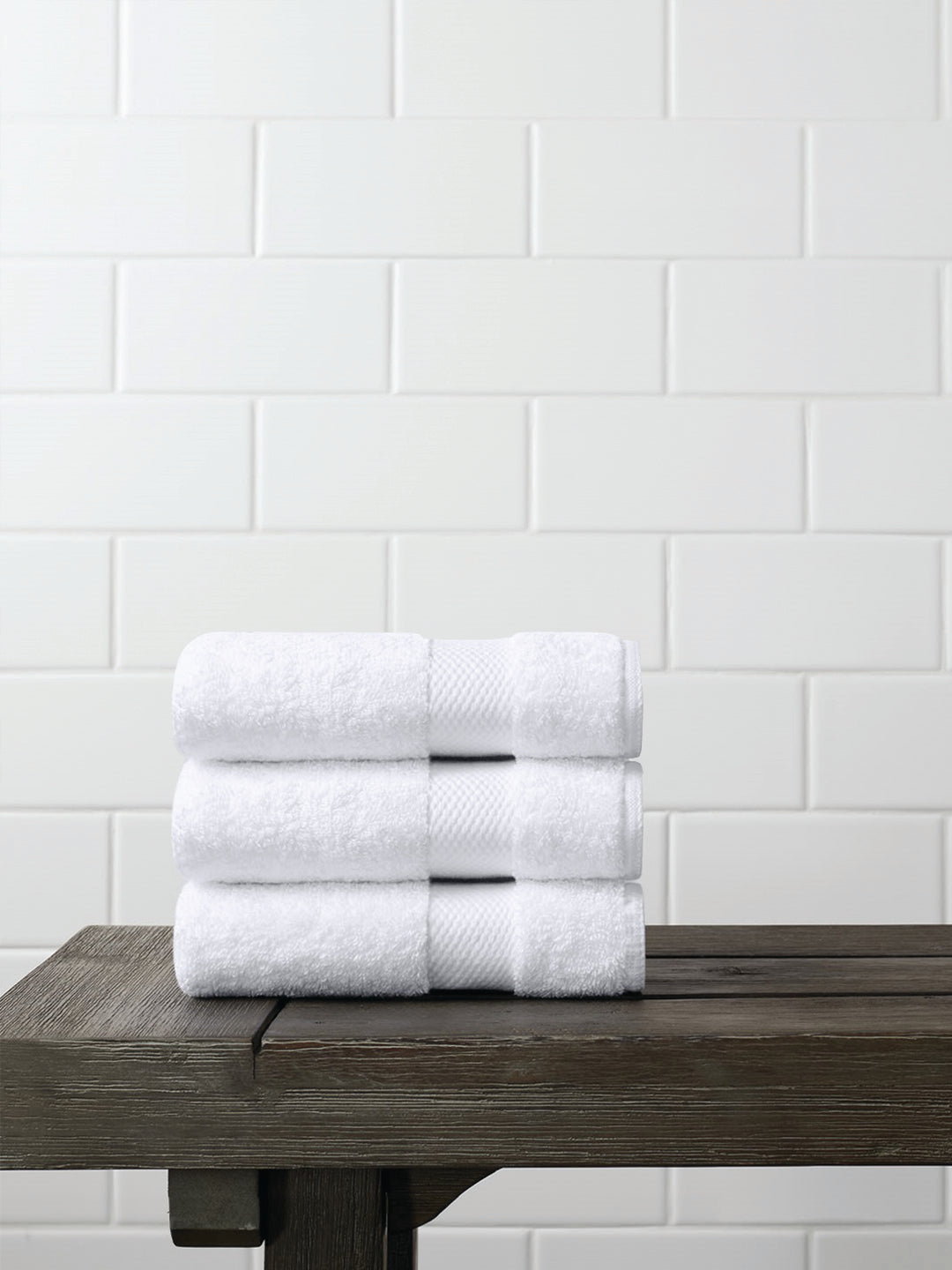 Face Towels (Set of 3) Organic Cotton - White