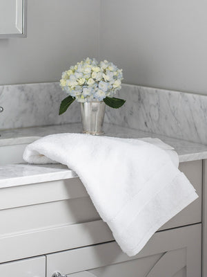 Organic Cotton Hand Towels (Set Of 2) - White