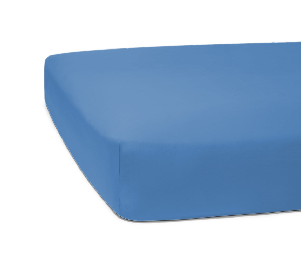 Fitted Bed Sheet - Blue