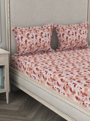 Su Casa King Bed Sheet - Autumn (Pink)