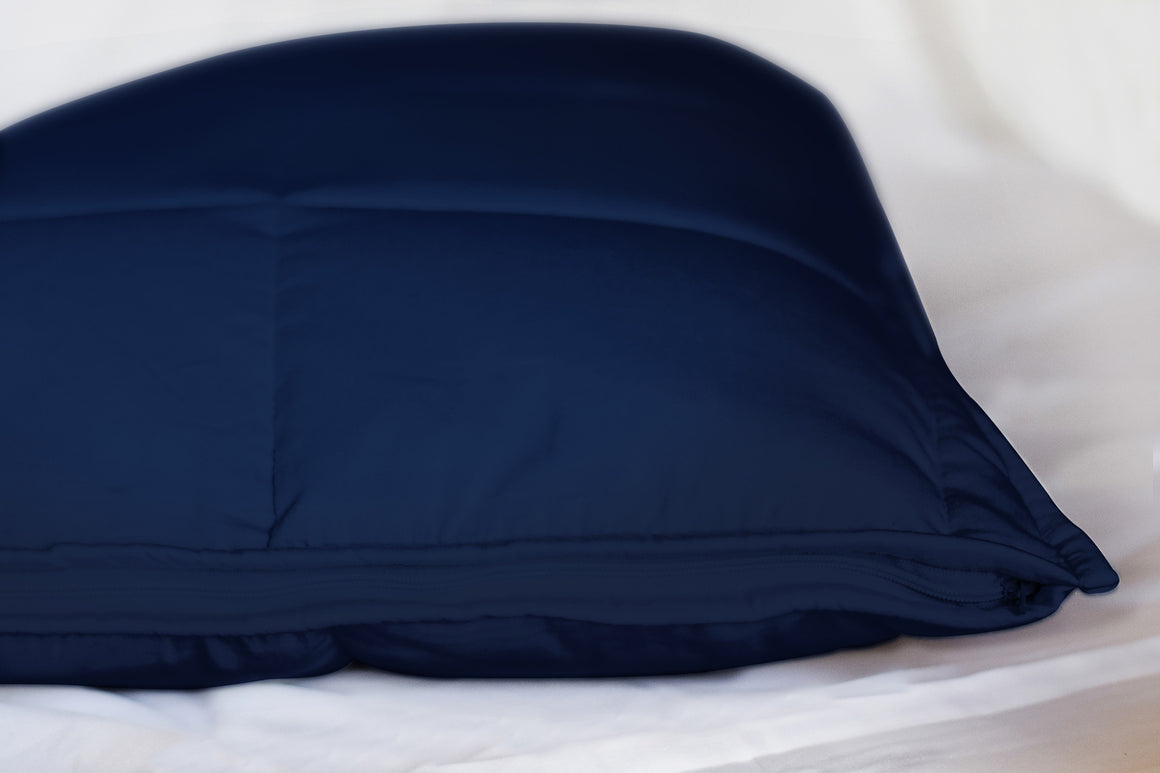 Luxe Pillow Covers (Quilted) II Navy