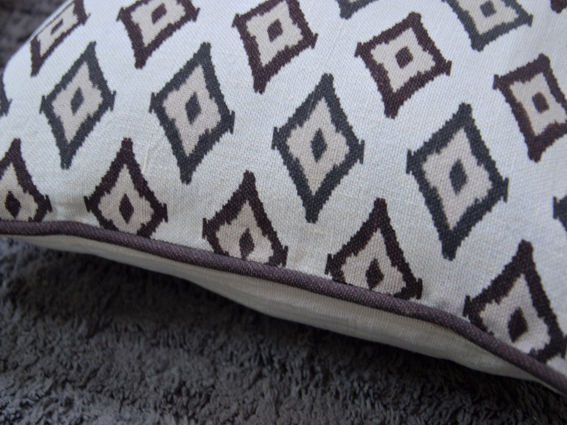 Ikat Linen Cushion Cover