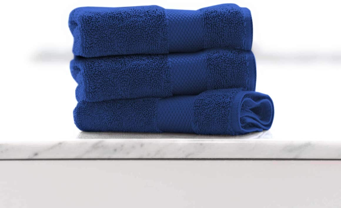 Face Towels (Set of 3) Organic Cotton - Navy