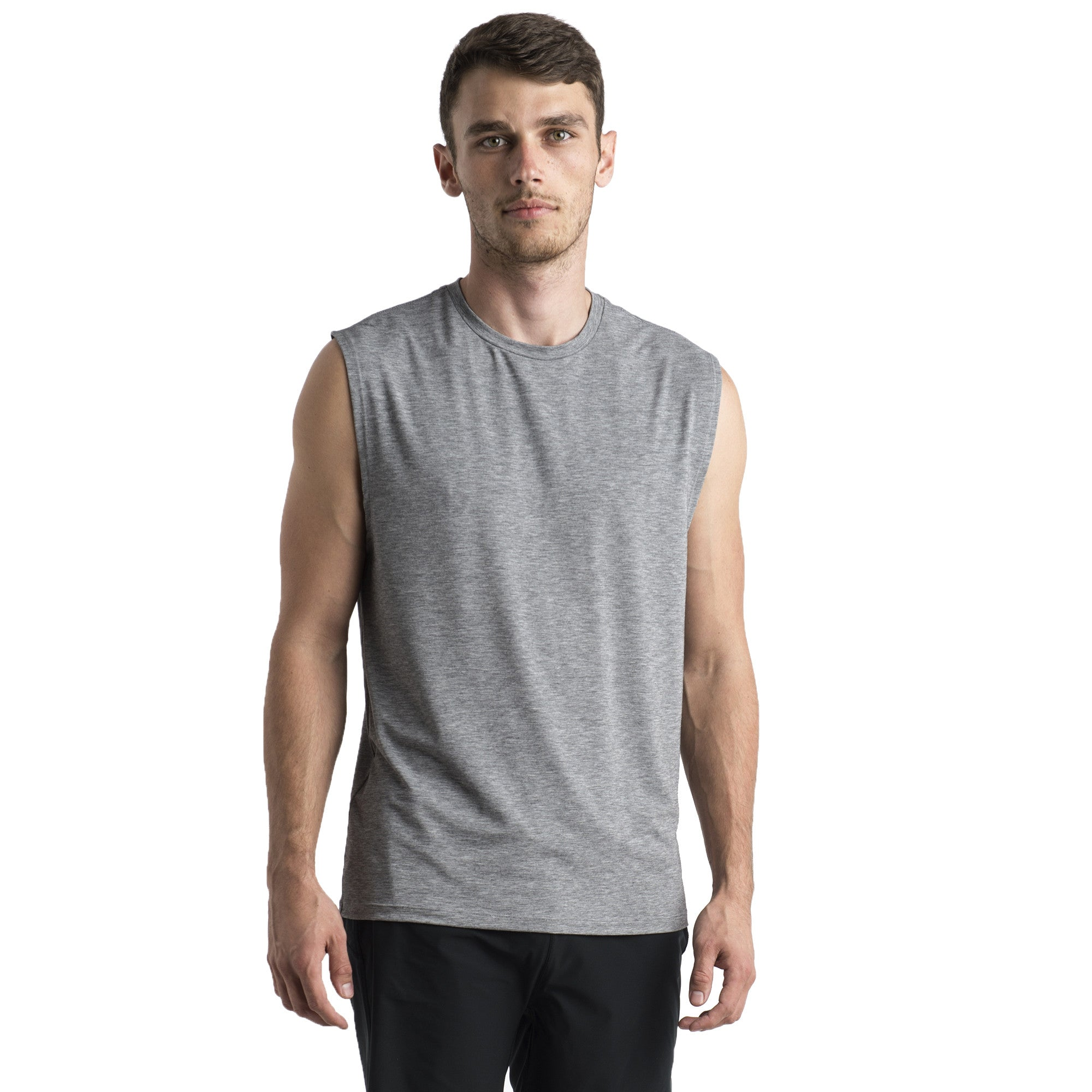 MADRE SLEEVELESS T - HEATHER GREY