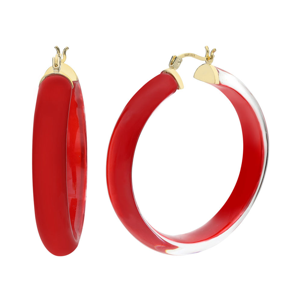 XL Illusion Lucite Hoops