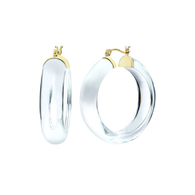Medium Lucite Hoops - CLEAR
