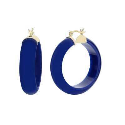Medium Lucite Hoops - LAPIS