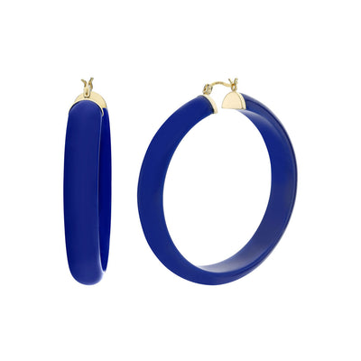 Large Lucite Hoops - LAPIS