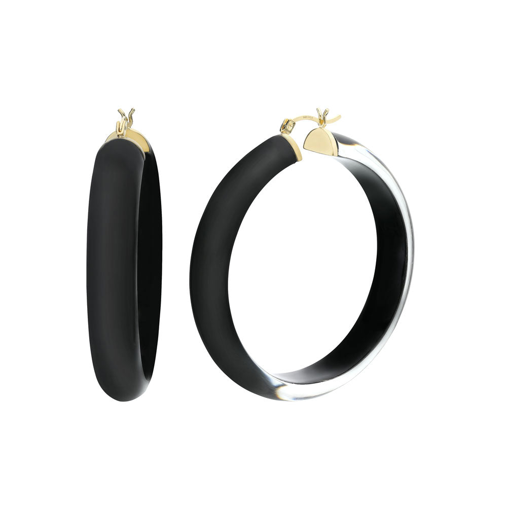 Large Illusion Lucite Hoops
