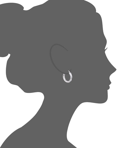 Hammered Hoop Earring Vector