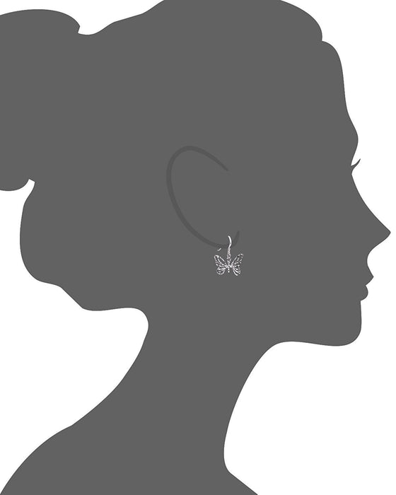 Sterling Silver Spring Butterfly Earring Vector