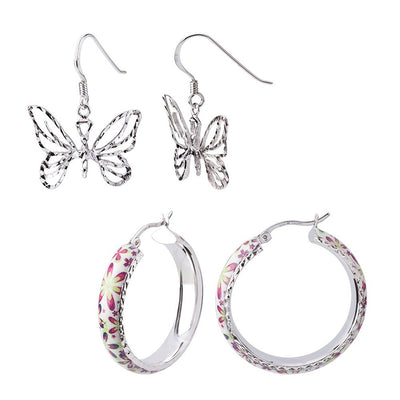 Sterling Silver Spring Earrings Set