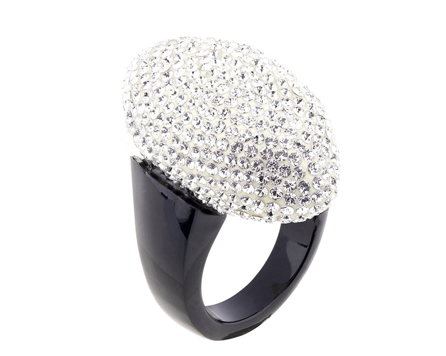 Black and White Marquise Statement Ring