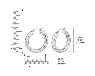 Hammered Hoop Earring Dimensions