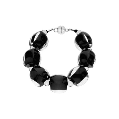 Beaded Lucite Bracelet BLACK