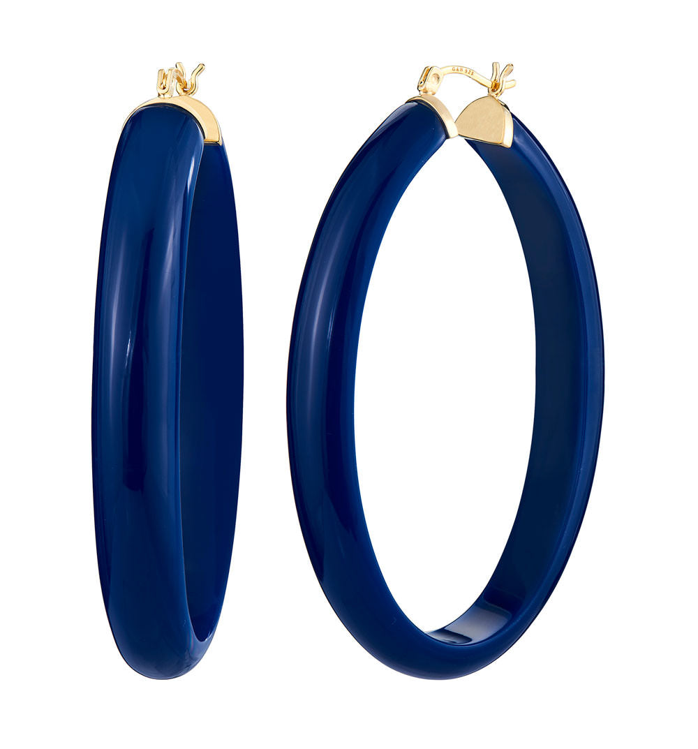 XL Oval Lucite Hoops