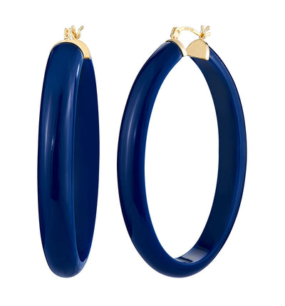 XL Oval Illusion Lucite Hoops - Click Top