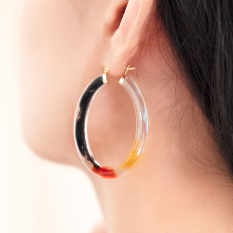 Ombré Oval Lucite Earrings