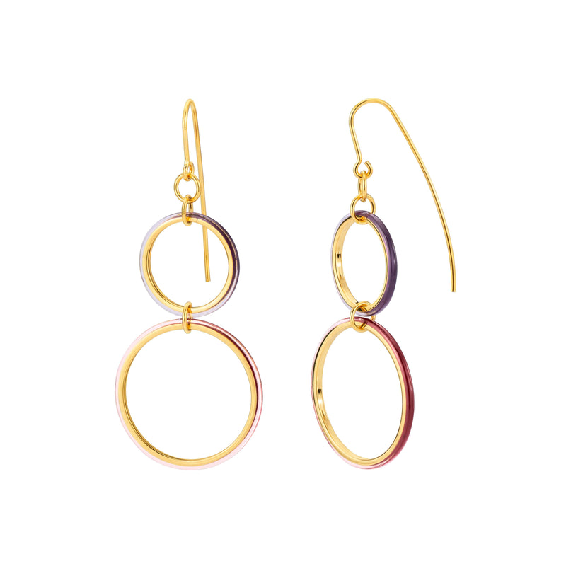 Thin Double Drop Lucite Earrings