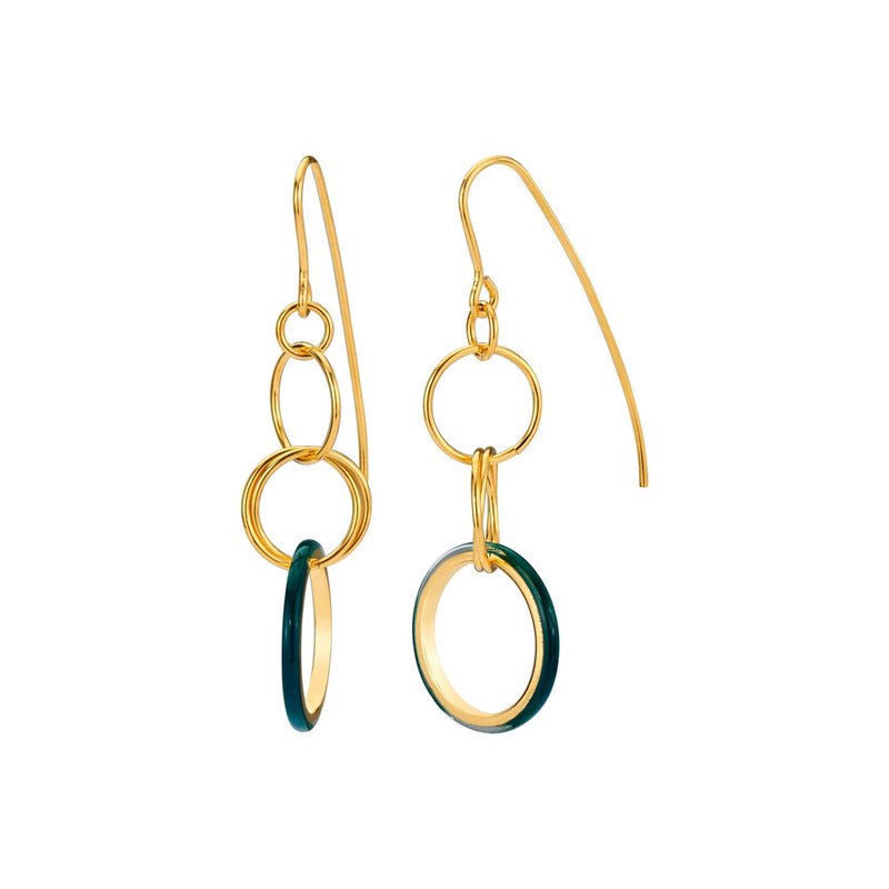 Thin Wire Drop Lucite Earrings