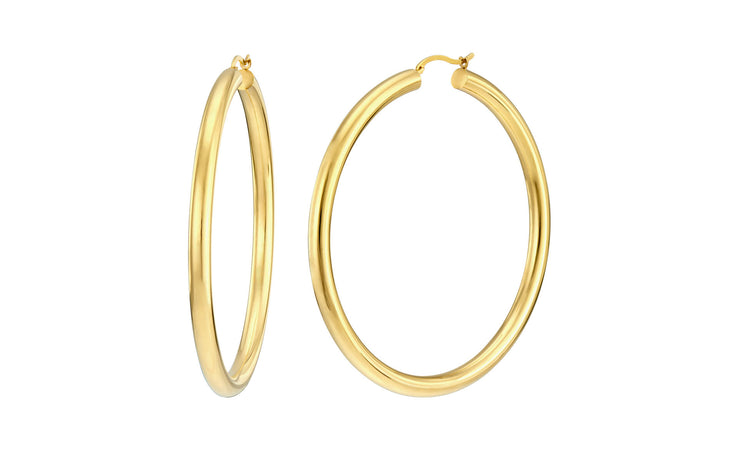 Classic Hoop Earrings - Gold & Honey