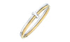 Two Tone Bangle - Gold & Honey