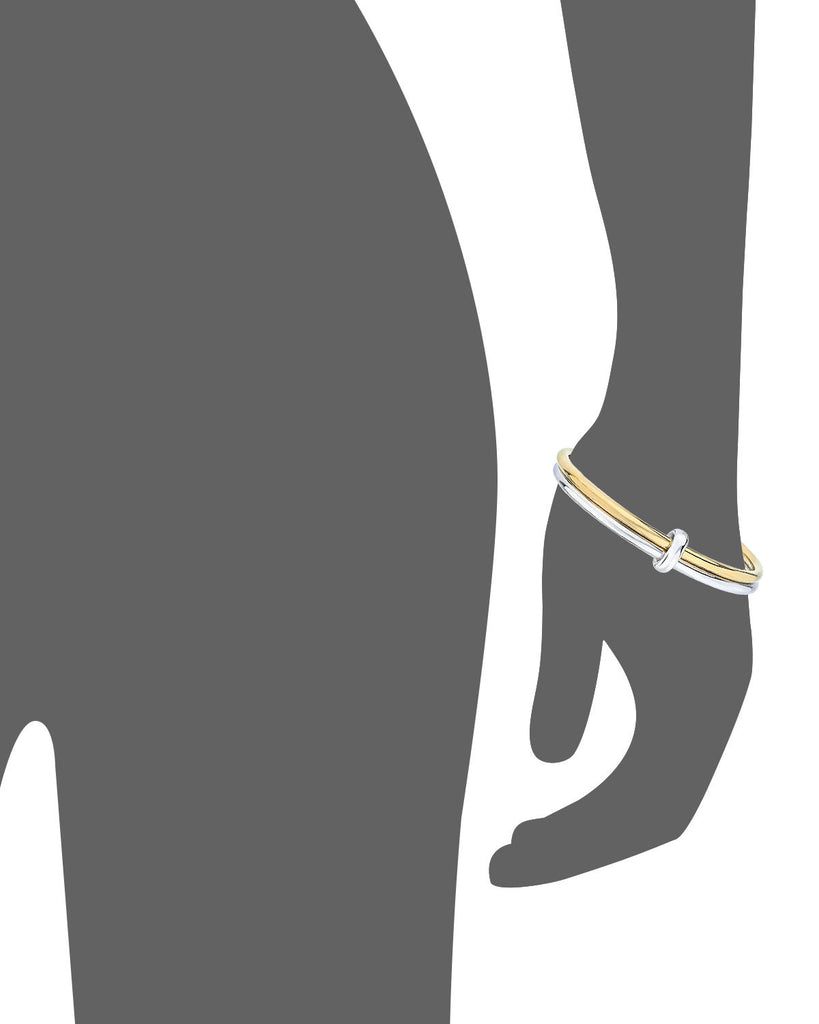 Two Tone Bangle - Gold & Honey - Vector