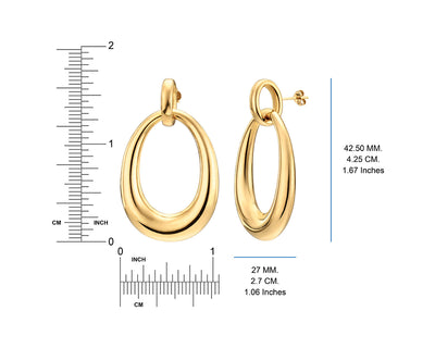 Drop Hoop Earrings - Gold & Honey - Ruler