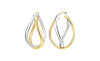 Two Tone Hoop Earrings - Gold & Honey