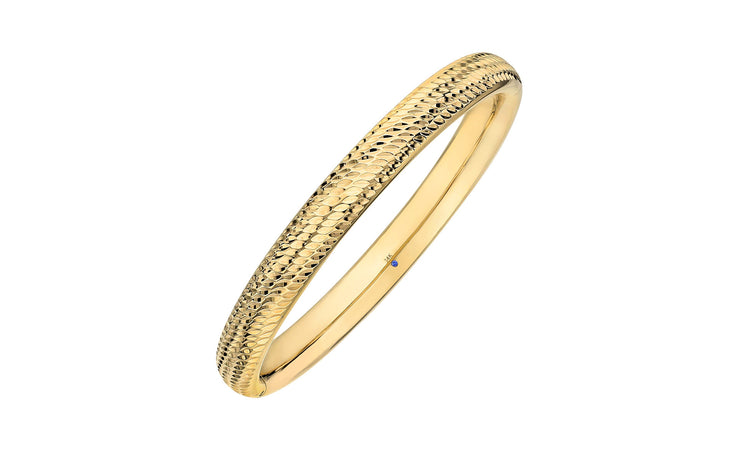 Hammered Bangle - Gold & Honey