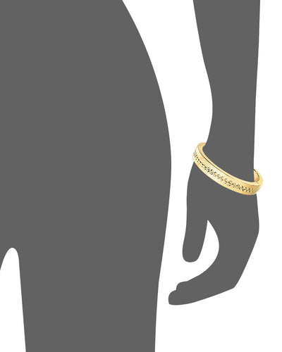 Diamond Cut Row Bangle - Gold & Honey - Vector