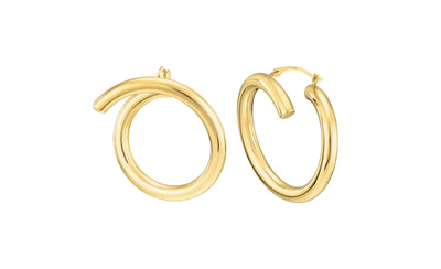 Crossover Earrings - Gold & Honey