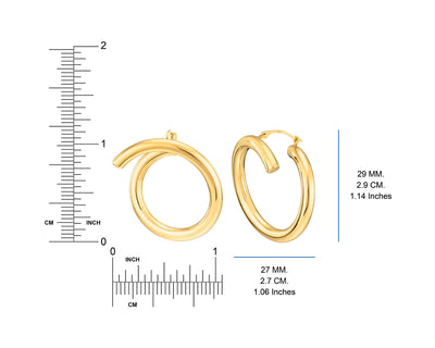 Crossover Earrings - Gold & Honey - Ruler