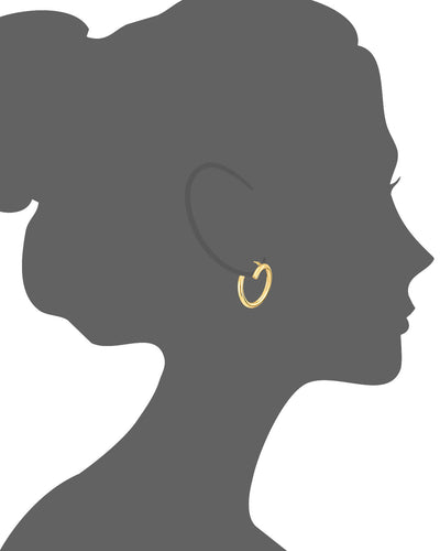 Crossover Earrings - Gold & Honey - Vector