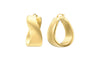 Wide Twist Earrings - Gold & Honey