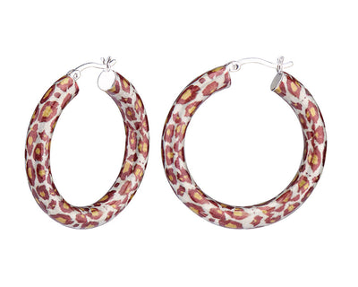 Animal Print Hoops - LEOPARD