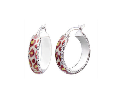 Small Animal Print Earrings - LEOPARD