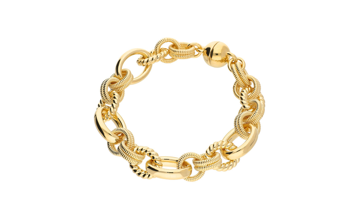 Large Multi Link Bracelet - Gold & Honey